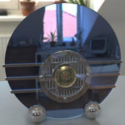 Bluebird Art Deco Radio 3d model