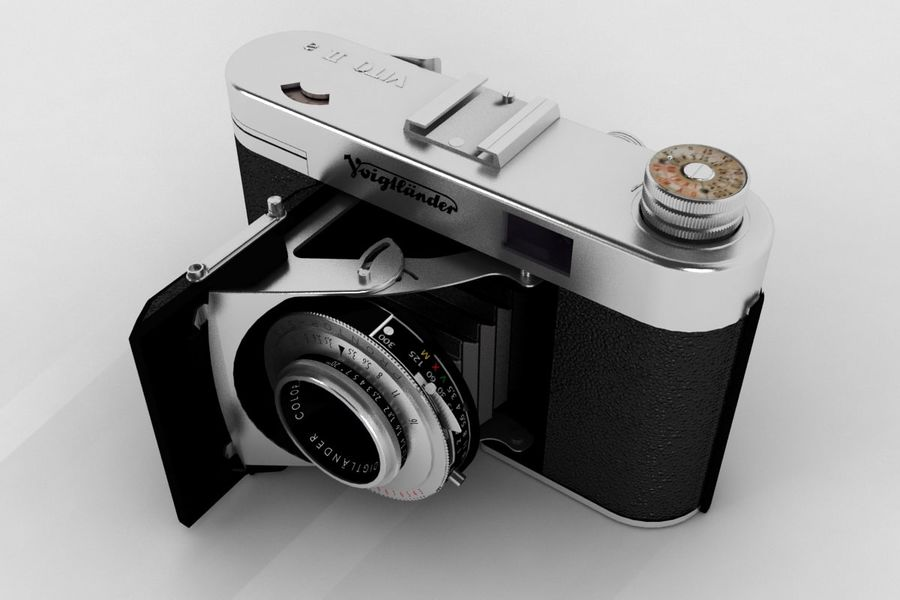 Vecchia macchina fotografica royalty-free 3d model - Preview no. 1