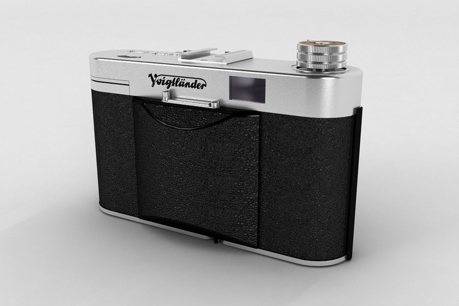 Vecchia macchina fotografica royalty-free 3d model - Preview no. 7