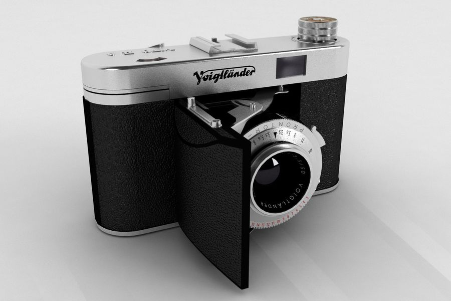 Vecchia macchina fotografica royalty-free 3d model - Preview no. 5
