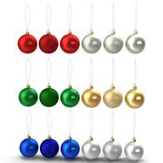 Enfeites de Natal redondos 3d model
