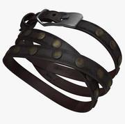 Bracelete de couro 3d model