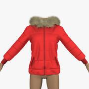 Ceket Kırmızı 3d model