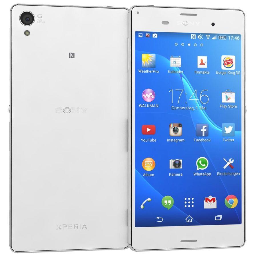 Sony Xperia Z3 Blanc Modèle 3d 39 Max Wrl 3dm Obj Lxo Ma Lwo Fbx Dae 3ds Free3d