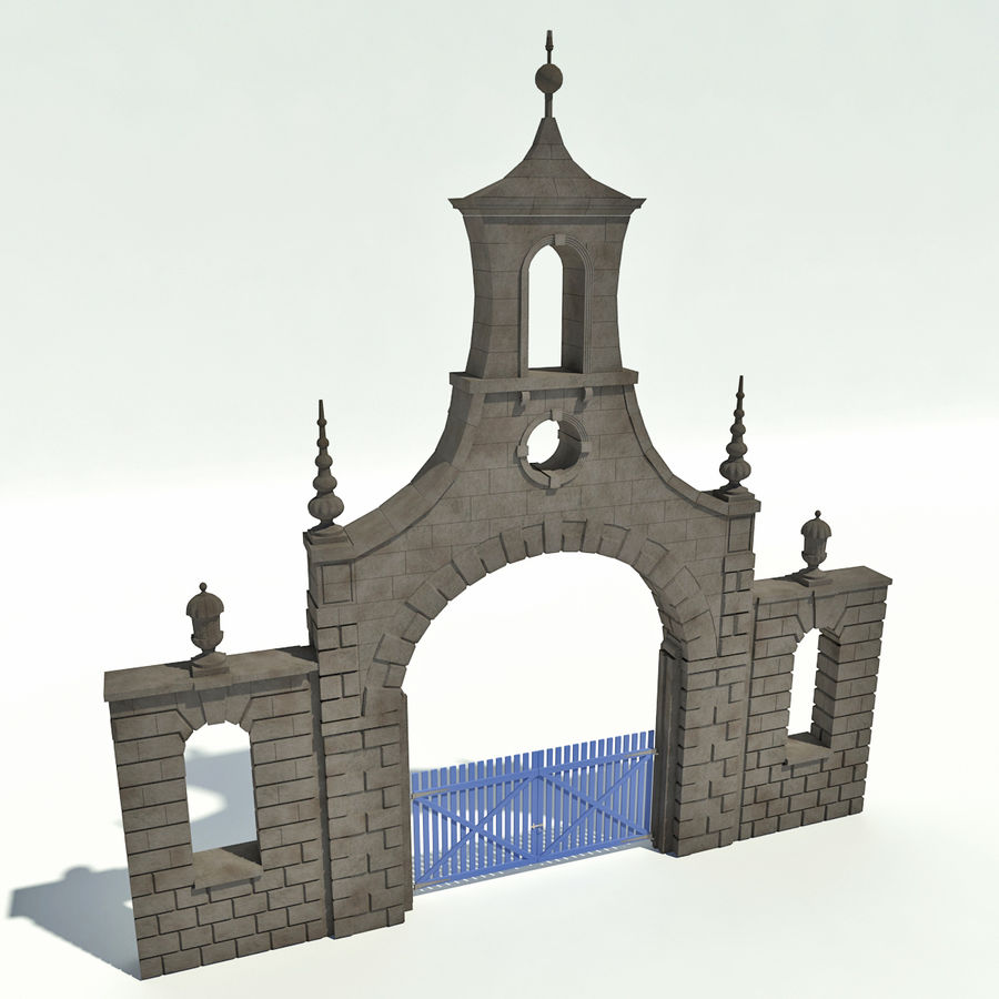 アーチ道 royalty-free 3d model - Preview no. 2