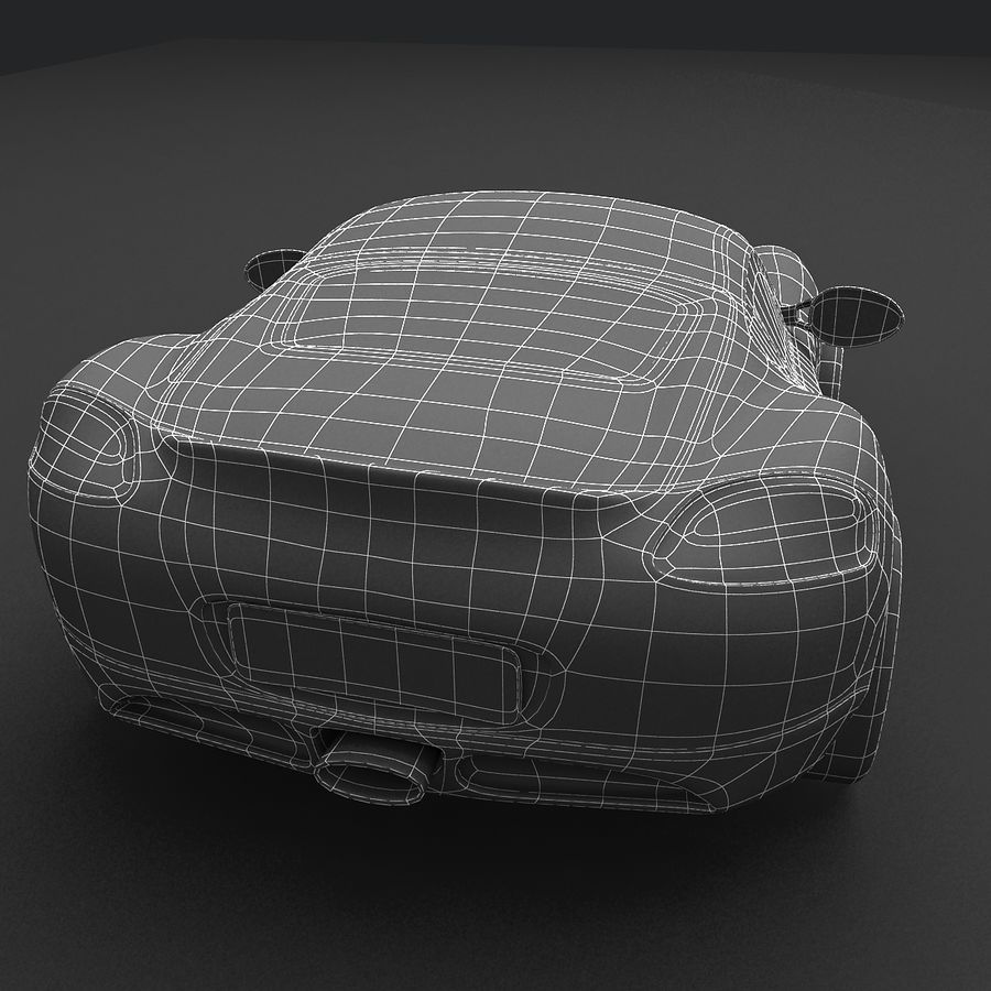 Cartoon Sport Car royalty-free 3d model - Preview no. 15