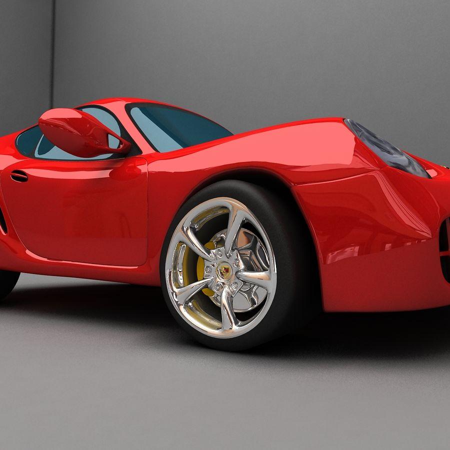 Cartoon Sport Car royalty-free 3d model - Preview no. 7