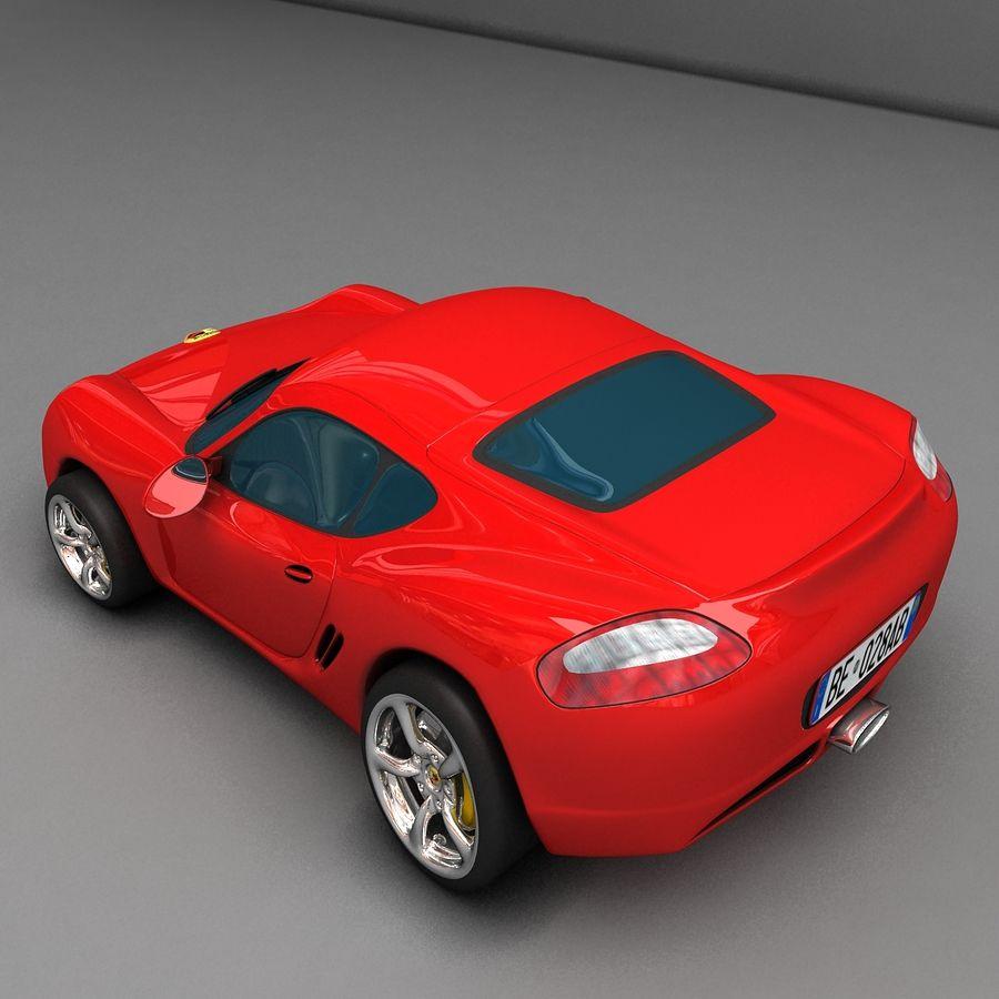 Cartoon Sport Car royalty-free 3d model - Preview no. 5