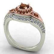 Anillo de diamante inspirado en la vendimia modelo 3d