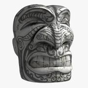 マオリティキの顔の彫刻 3d model