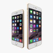 Apple iPhone 6 + iPhone 6 Plus Gold 3d model