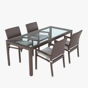 Arkimueble Rattan Furniture Set 3d model