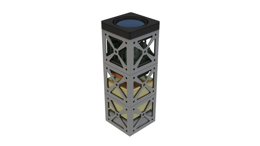 立方体卫星 royalty-free 3d model - Preview no. 6