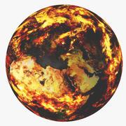 Fire Earth 3d model