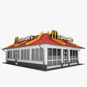 맥도날드 레스토랑 02 3d model