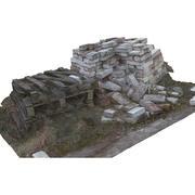Um monte de tijolos 3d model