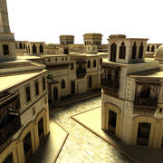 Iraq Town Scenario 3d model