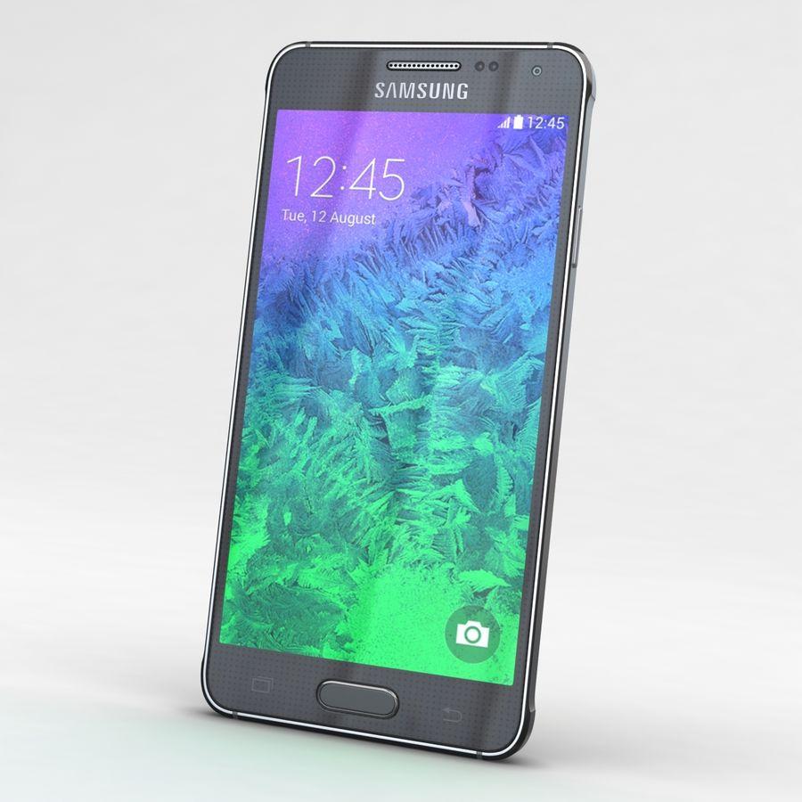 Samsung Galaxy Alpha Charcoal Preto royalty-free 3d model - Preview no. 3