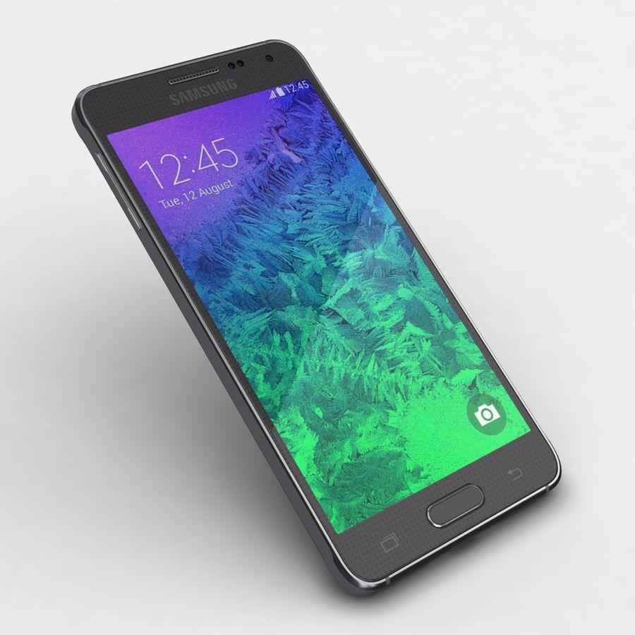 Samsung Galaxy Alpha Charcoal Preto royalty-free 3d model - Preview no. 19