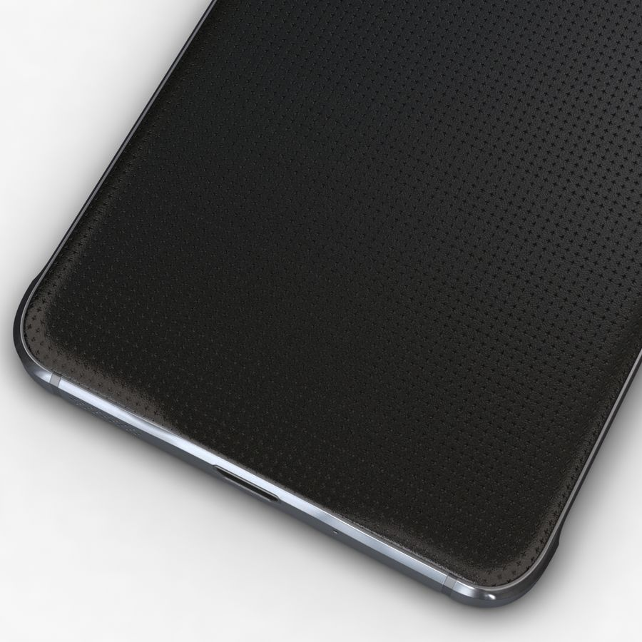 Samsung Galaxy Alpha Charcoal Preto royalty-free 3d model - Preview no. 13