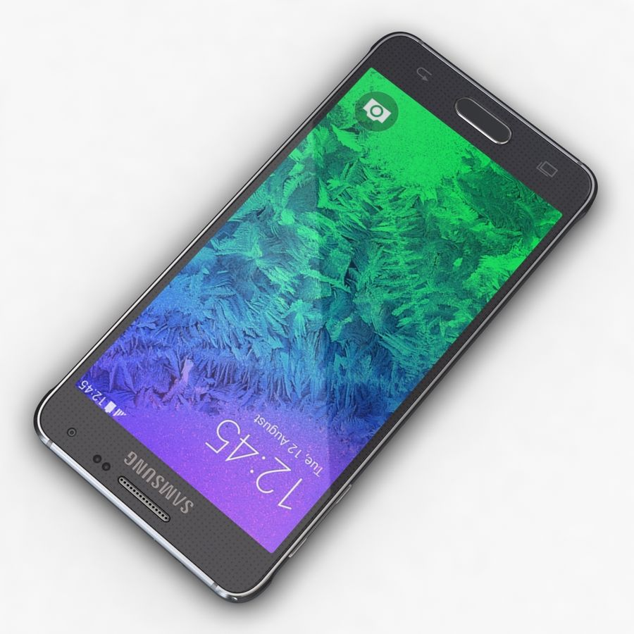 Samsung Galaxy Alpha Charcoal Preto royalty-free 3d model - Preview no. 7