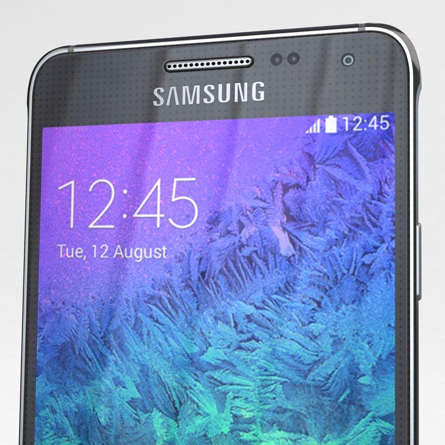 Samsung Galaxy Alpha Charcoal Preto royalty-free 3d model - Preview no. 23