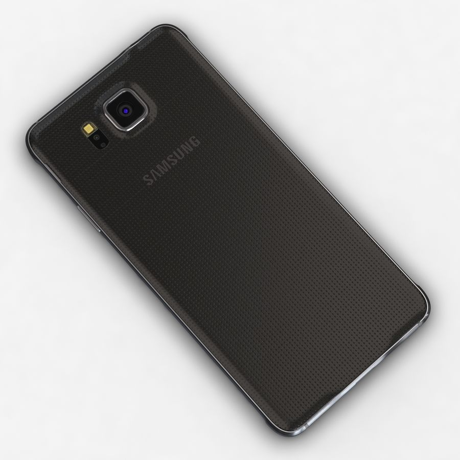 Samsung Galaxy Alpha Charcoal Preto royalty-free 3d model - Preview no. 12