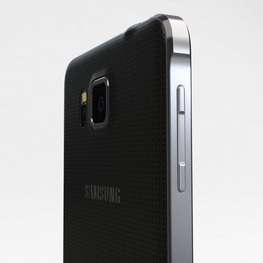 Samsung Galaxy Alpha Charcoal Preto royalty-free 3d model - Preview no. 17