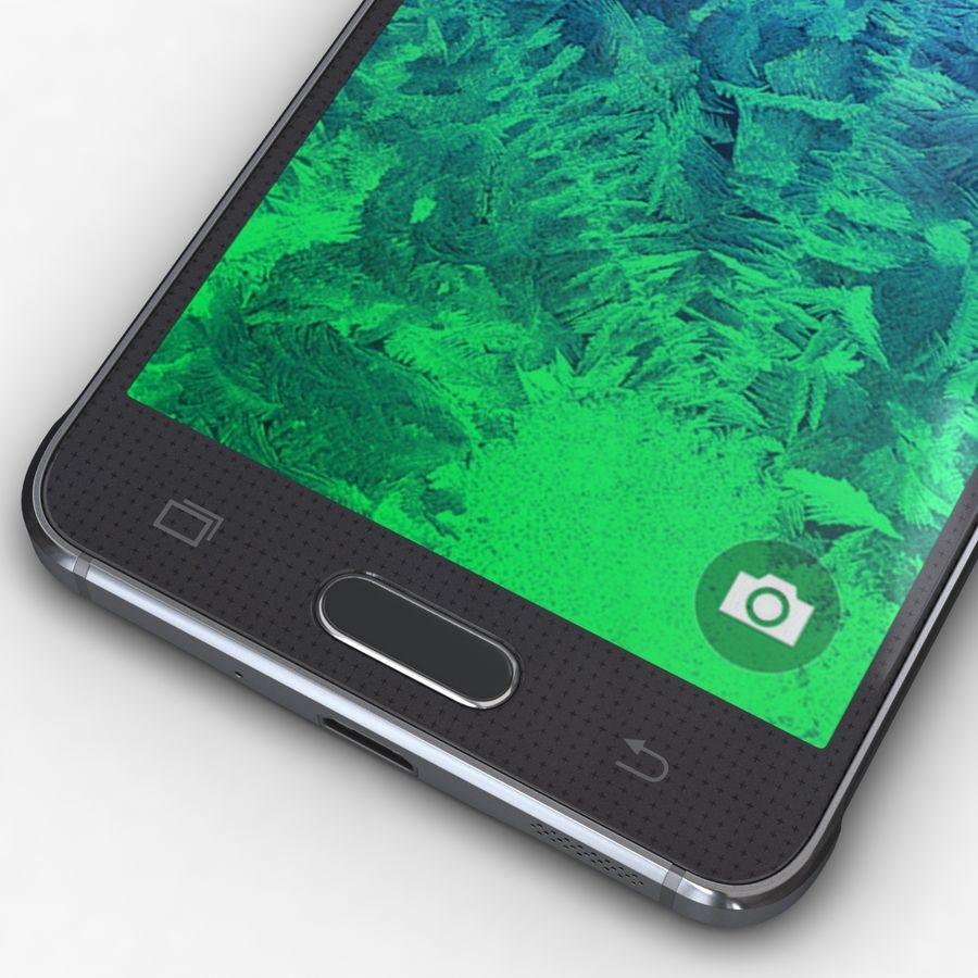 Samsung Galaxy Alpha Charcoal Preto royalty-free 3d model - Preview no. 9