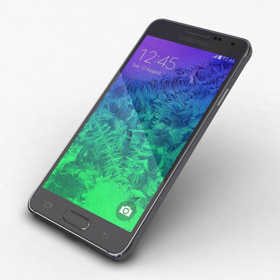 Samsung Galaxy Alpha Charcoal Preto royalty-free 3d model - Preview no. 20