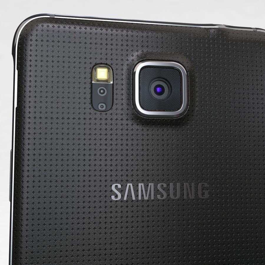 Samsung Galaxy Alpha Charcoal Preto royalty-free 3d model - Preview no. 18
