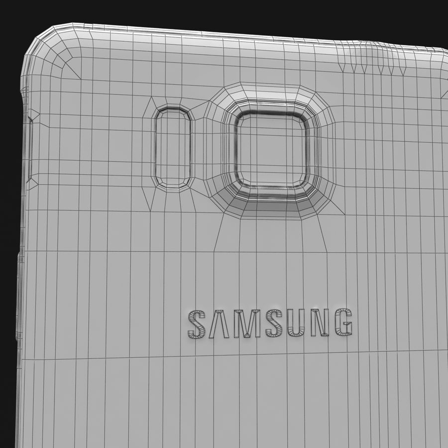 Samsung Galaxy Alpha Charcoal Preto royalty-free 3d model - Preview no. 35