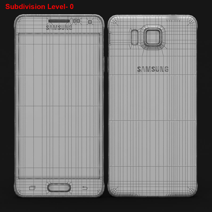 Samsung Galaxy Alpha Charcoal Preto royalty-free 3d model - Preview no. 27