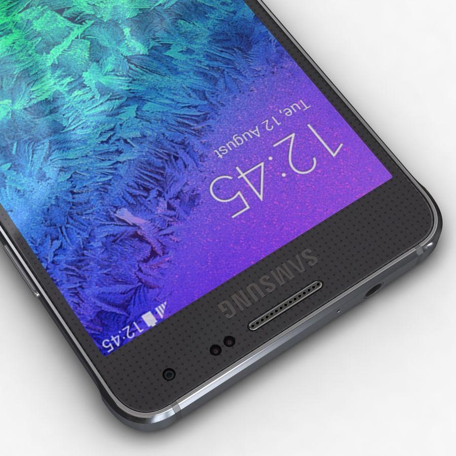 Samsung Galaxy Alpha Charcoal Preto royalty-free 3d model - Preview no. 10