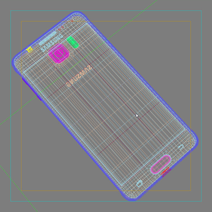 Samsung Galaxy Alpha Charcoal Preto royalty-free 3d model - Preview no. 42