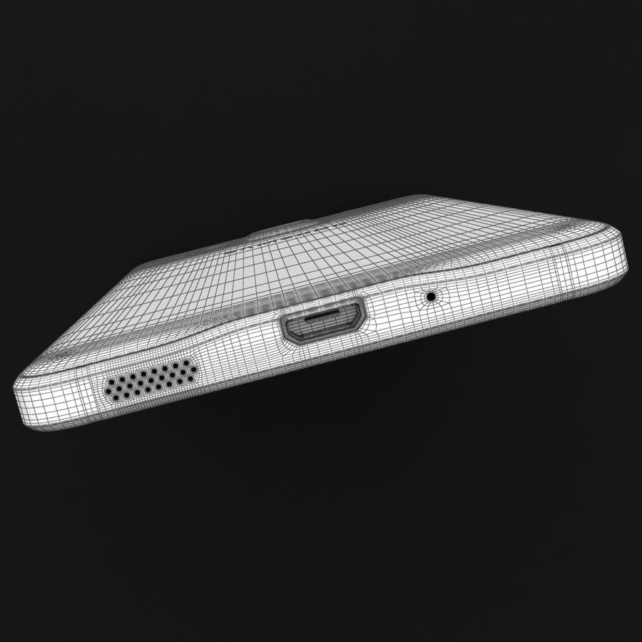 Samsung Galaxy Alpha Charcoal Preto royalty-free 3d model - Preview no. 38