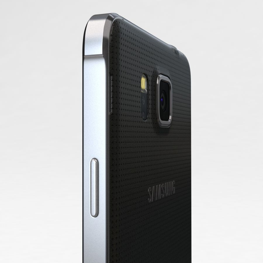 Samsung Galaxy Alpha Charcoal Preto royalty-free 3d model - Preview no. 16