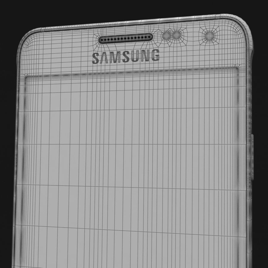 Samsung Galaxy Alpha Charcoal Preto royalty-free 3d model - Preview no. 40