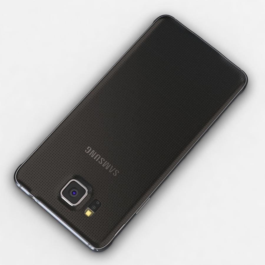 Samsung Galaxy Alpha Charcoal Preto royalty-free 3d model - Preview no. 11