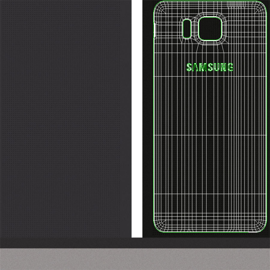 Samsung Galaxy Alpha Charcoal Preto royalty-free 3d model - Preview no. 24