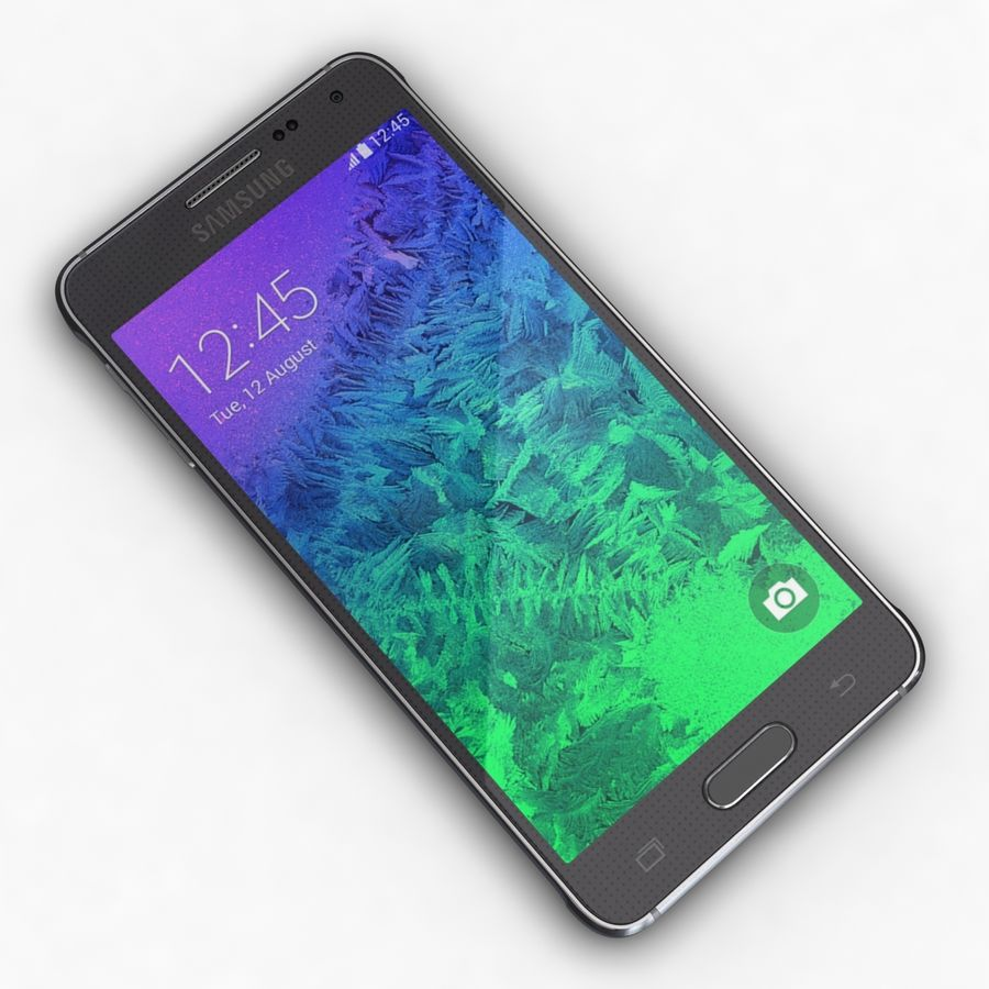 Samsung Galaxy Alpha Charcoal Preto royalty-free 3d model - Preview no. 8