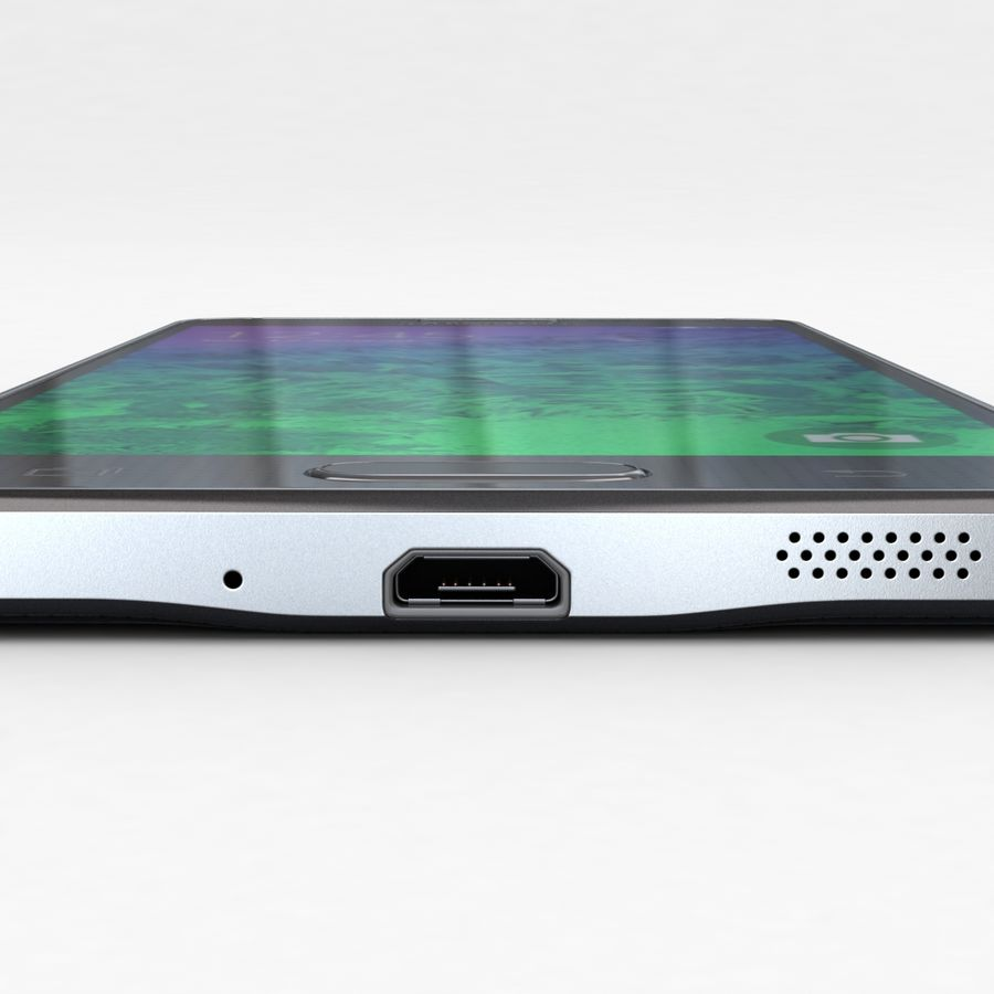 Samsung Galaxy Alpha Charcoal Preto royalty-free 3d model - Preview no. 15