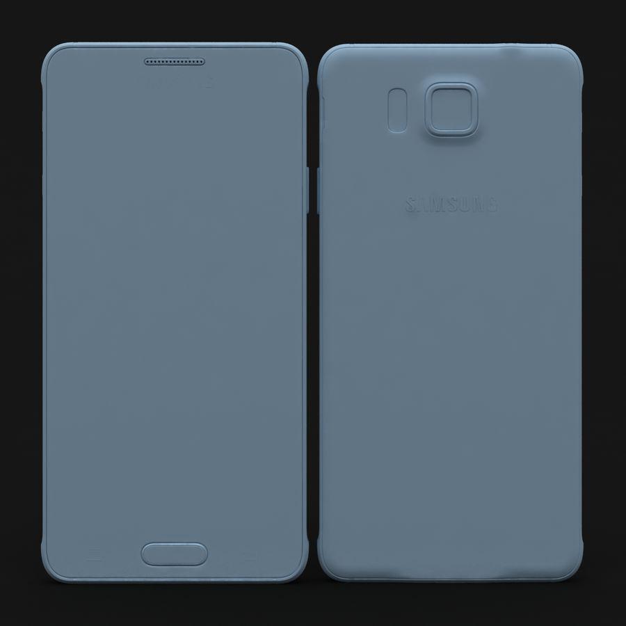 Samsung Galaxy Alpha Charcoal Preto royalty-free 3d model - Preview no. 25