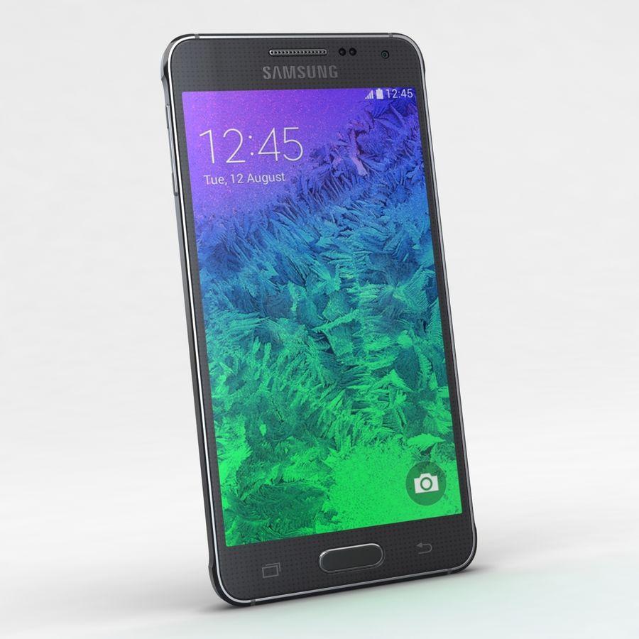 Samsung Galaxy Alpha Charcoal Preto royalty-free 3d model - Preview no. 4