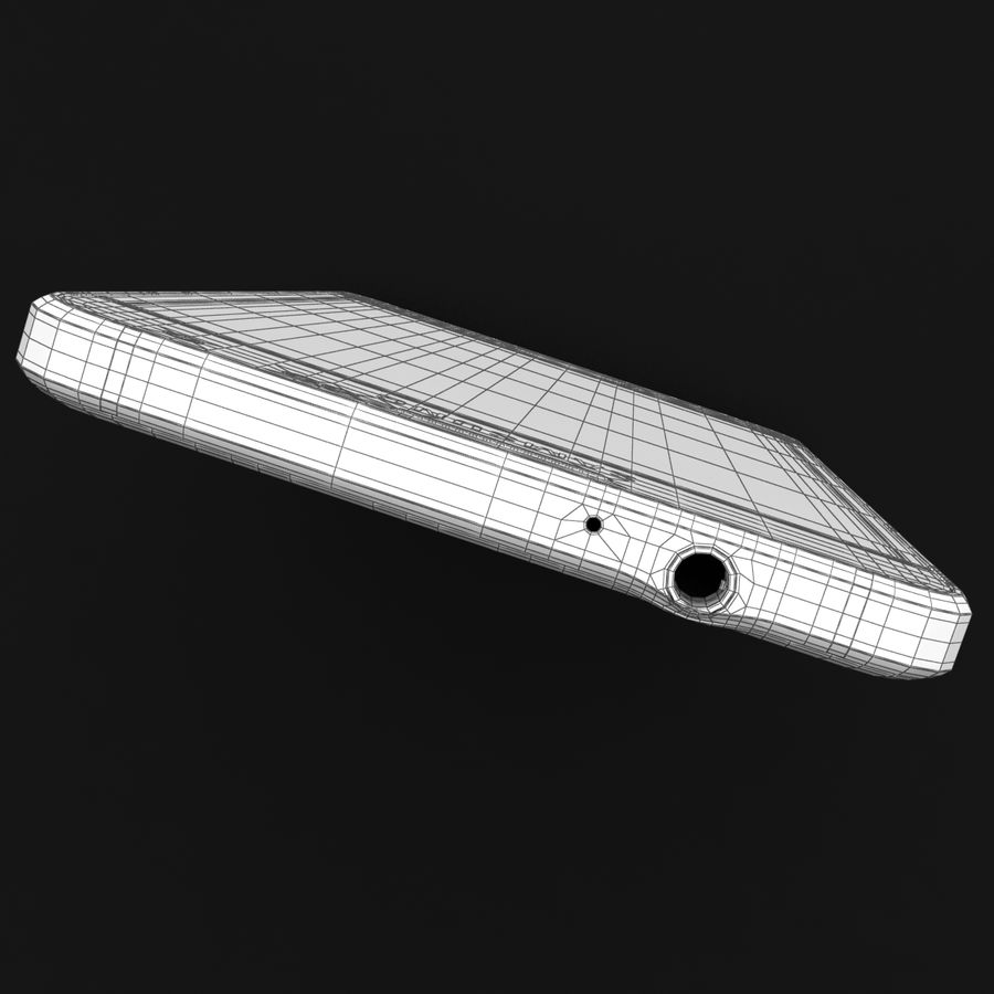 Samsung Galaxy Alpha Charcoal Preto royalty-free 3d model - Preview no. 37