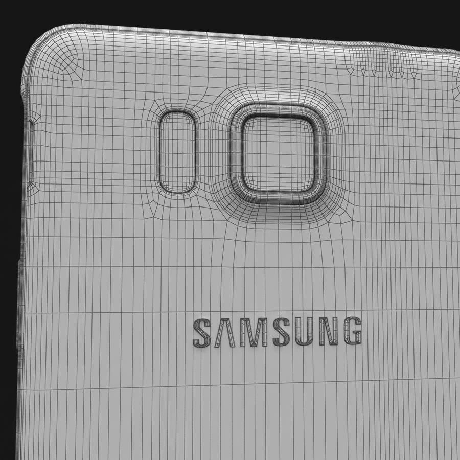 Samsung Galaxy Alpha Charcoal Preto royalty-free 3d model - Preview no. 34