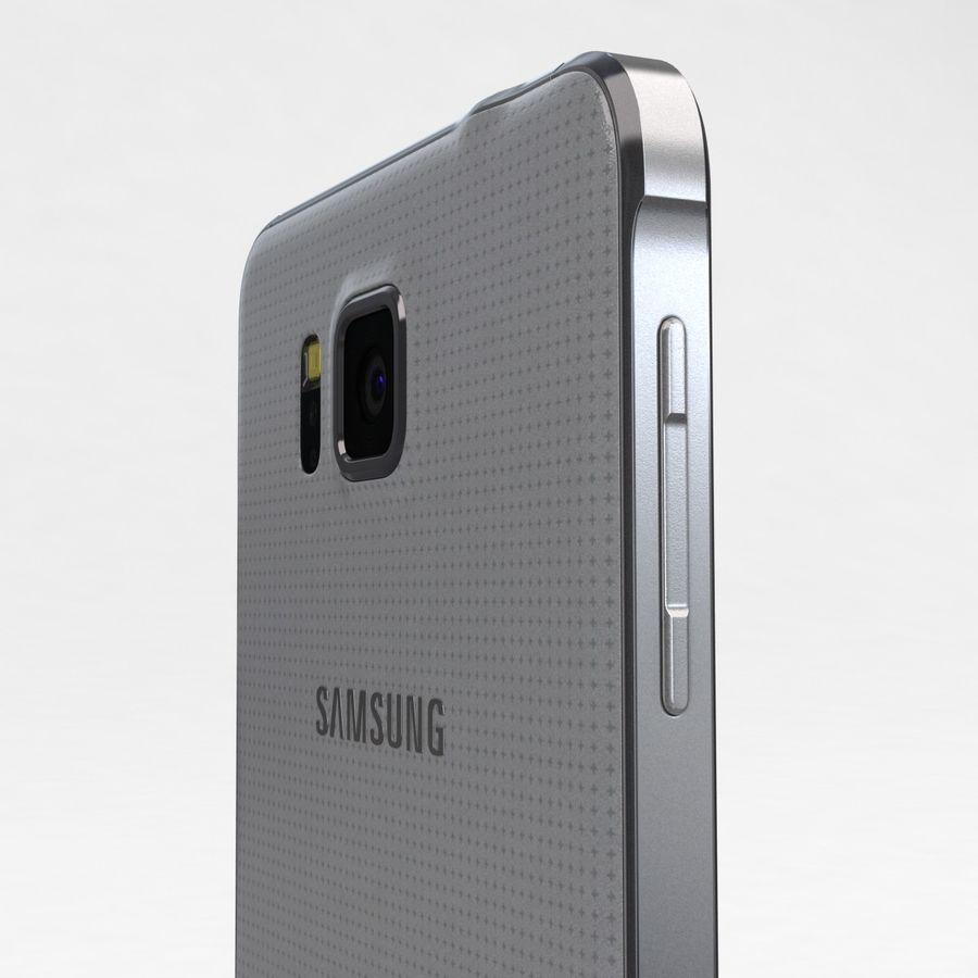 Samsung Galaxy Alpha Prata Elegante royalty-free 3d model - Preview no. 17