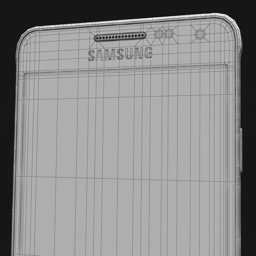 Samsung Galaxy Alpha Prata Elegante royalty-free 3d model - Preview no. 41