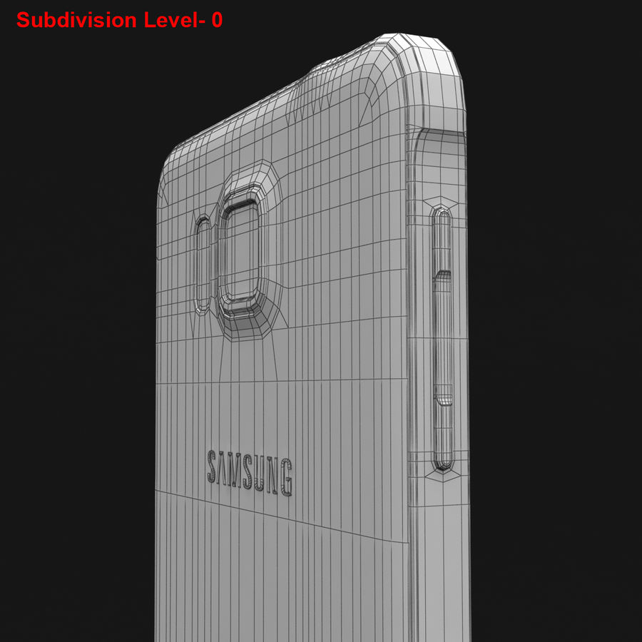 Samsung Galaxy Alpha Prata Elegante royalty-free 3d model - Preview no. 33