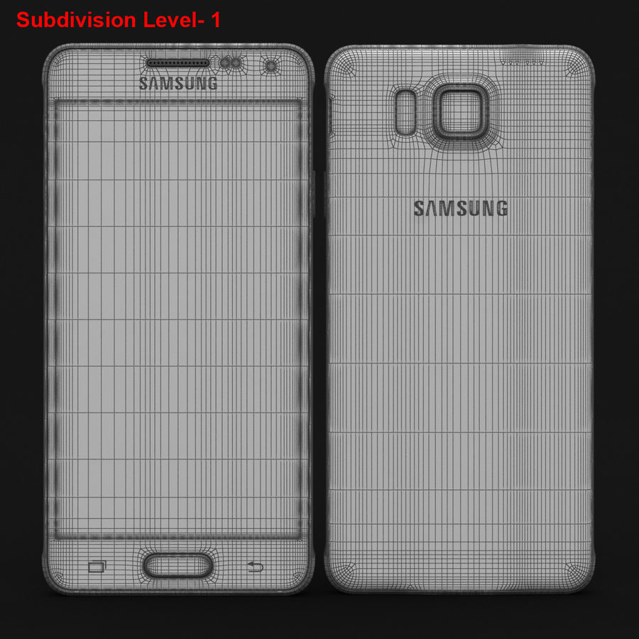 Samsung Galaxy Alpha Prata Elegante royalty-free 3d model - Preview no. 26